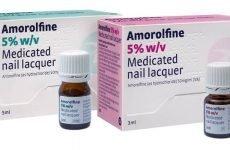 Спрей і лак Аморолфіна від грибка нігтів
