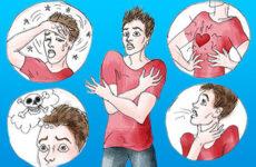 Симптоми ВСД у стадії загострення у дорослих