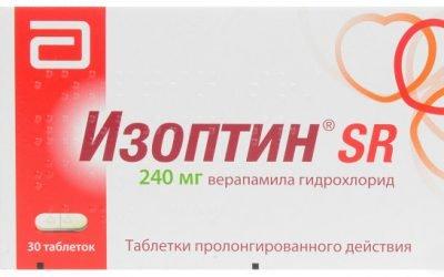 Изоптин для лікування артеріальної гіпертензії у формі таблеток та розчину