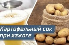 Картопляний сік від печії: як приймати, корисні властивості