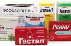 Обволікаючі засоби для шлунка і кишечника: список